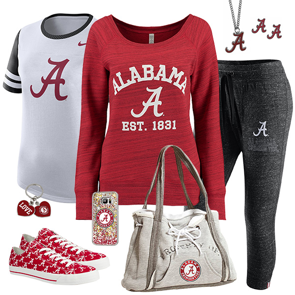 Cute Alabama Crimson Tide Fan Fashion