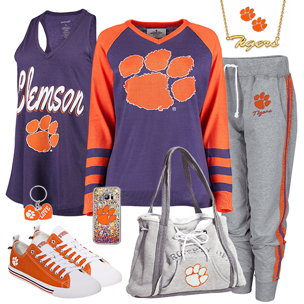 Cute Clemson Tigers Fan Fashion