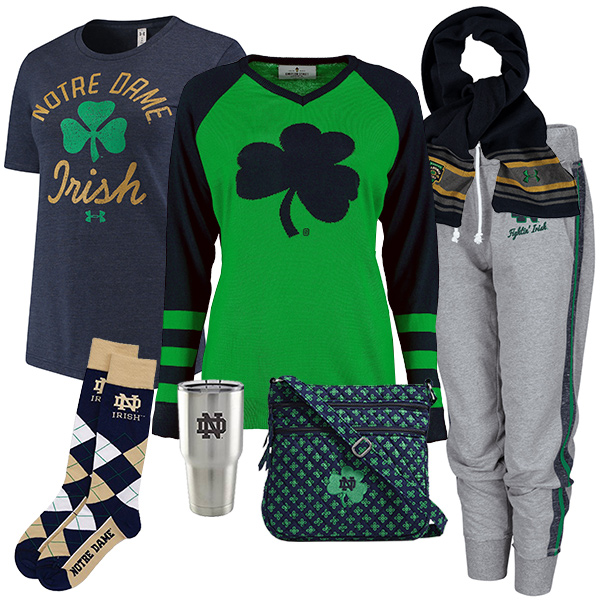 Cute Notre Dame Fighting Irish Fan Fashion