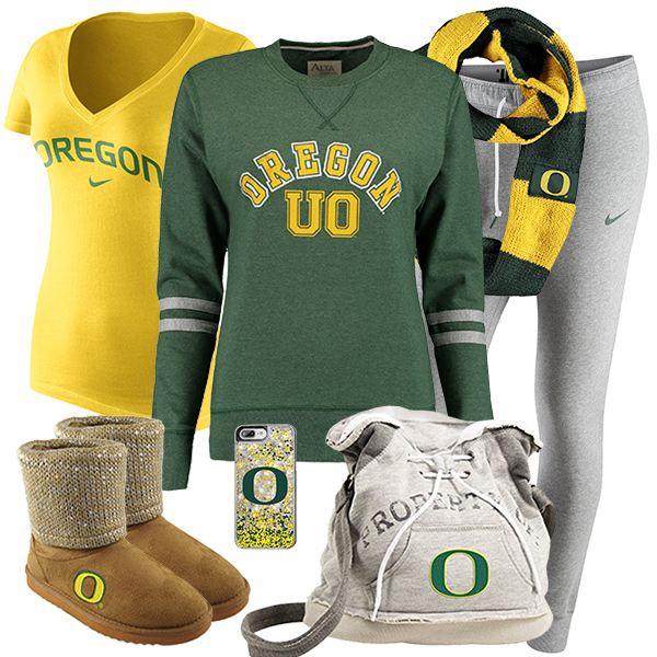 Cute Oregon Ducks Fan Fashion