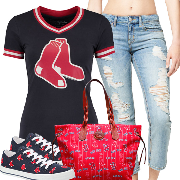 Cute Red Sox Fan Fashion