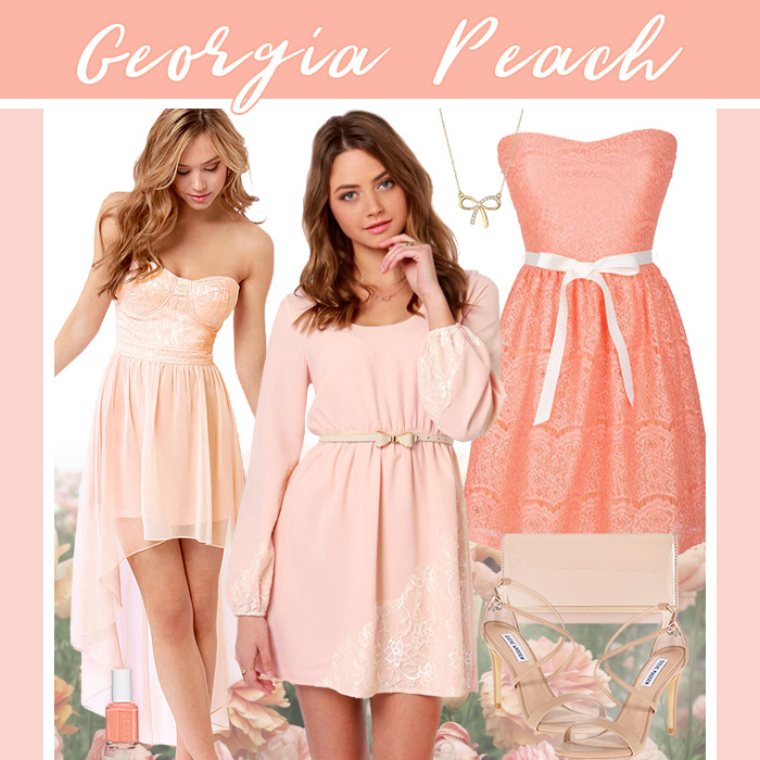 Georgia Peach Dresses