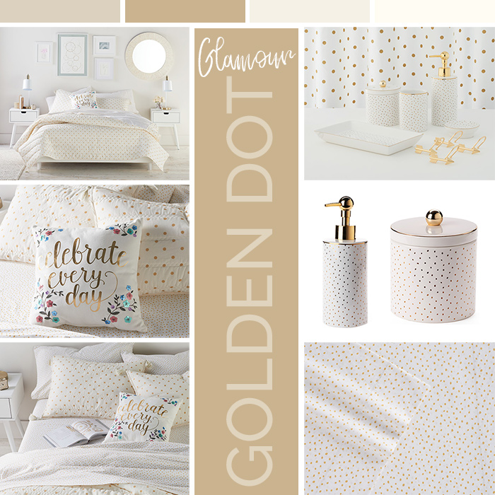Golden Dot Glamour Bed & Bath