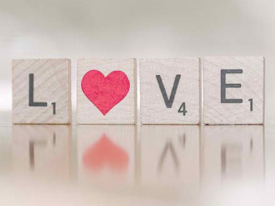 Love Scrabble Letters