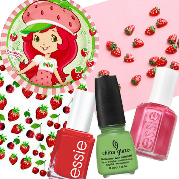 Strawberry Shortcake Nail Designs