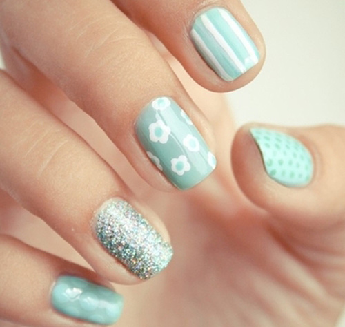 Wall decal bunny wall decal thousands pictures of wall spring inspired nail art trends spring inspired nail polish designs prinsesfo Choice Image