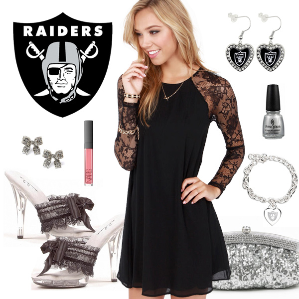 Women's Oakland Raiders Fantasy Dress Look