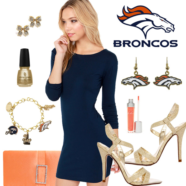 Women's Denver Broncos Fantasy Dress Look