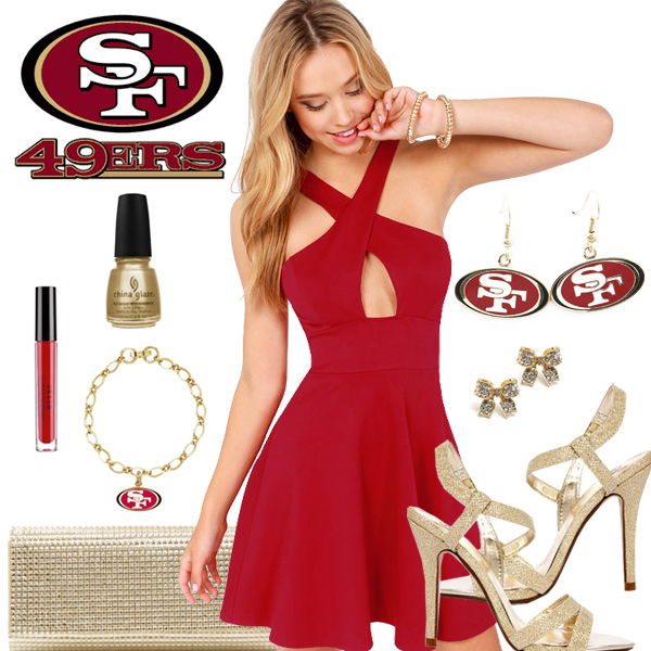 Women's San Francisco 49ers Fantasy Dress Look