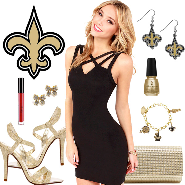 Women's New Orleans Saints Fantasy Dress Look