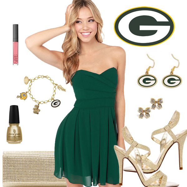 Women's Green Bay Packers Fantasy Dress Look