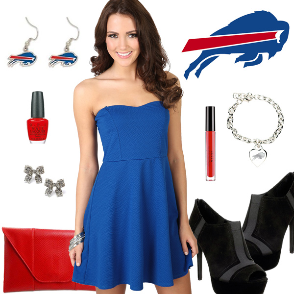 Women's Buffalo Bills Fantasy Dress Look