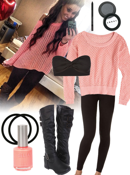 Casual coral sweater cuteness coral sweater and leggings outfit
