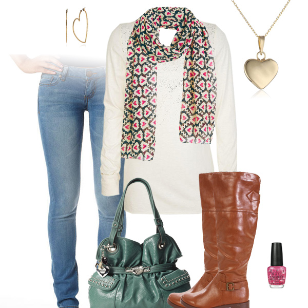 Hearts Scarf - Valentine's Day Outfit