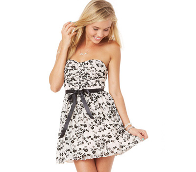 The Black & White Party Dress