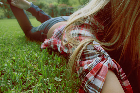 Girl In Plaid Shirt