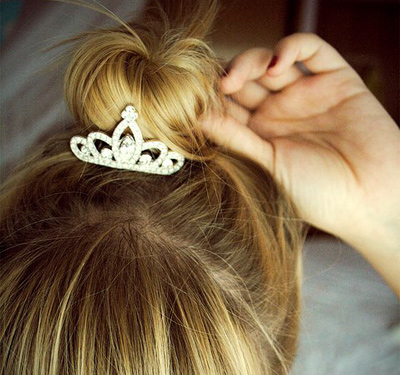 Blonde With Tiara