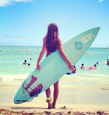 Hawaii Surfer Girl