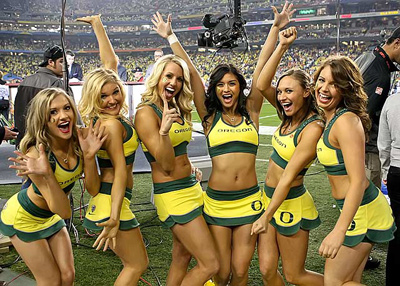 University Of Oregon Cheerleaders