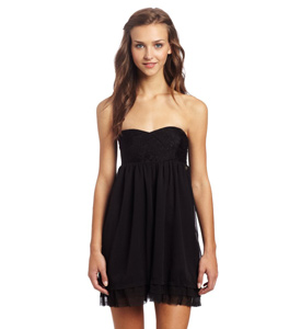 Roxy Babydoll Style Little Black Dress