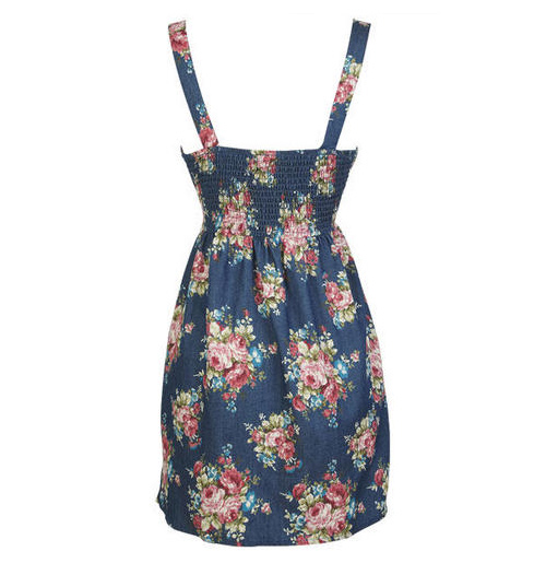 Floral Chambray Summer Dress