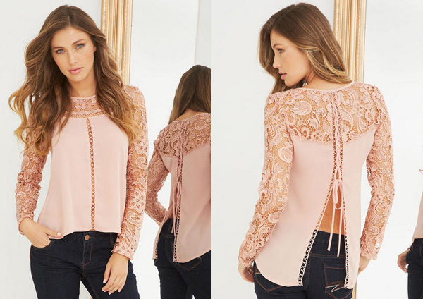 Pretty Blush Colored Blouse