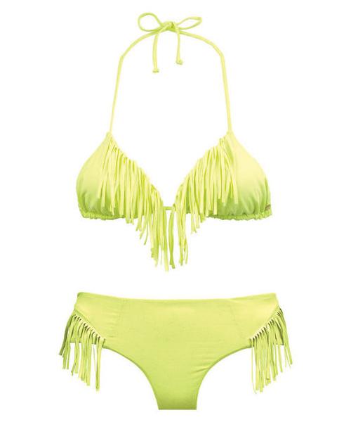 Neon Yellow Fringe Bikini, Neon Yellow Billabong Bikini ...